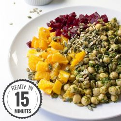 Vegan Chickpea Summer Salad - Refreshing, Innovative, Ready in 15 mins | hurrythefoodup.com