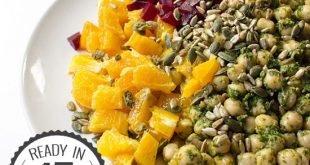 Vegan Chickpea Summer Salad - Refreshing, Innovative, Ready in 15 mins   hurrythefoodup.com