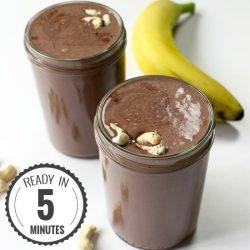 Creamy Cashew Milkshake - Chocolate Style | hurrythefoodup.com