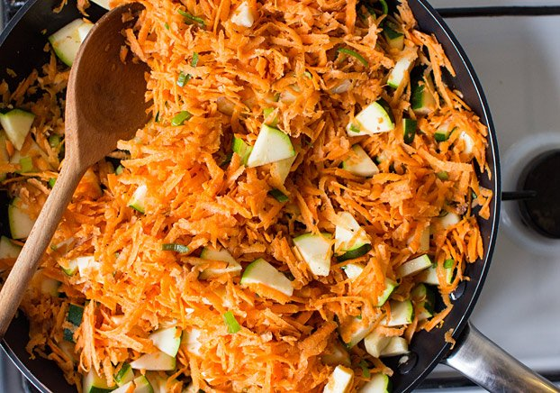 Vegan Coconut Curry | No Effort, Full Taste - fry all the veggies #coconut #quick | hurrythefoodup.com