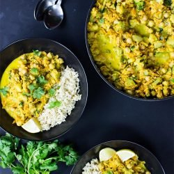 Vegan Coconut Curry | No Effort, Full Taste - coconut curry ready to serve #vegetarian #indian | hurrythefoodup.com