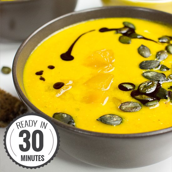 Pumpkin and Carrot Soup - stand out from the crowd | hurrythefoodup.com