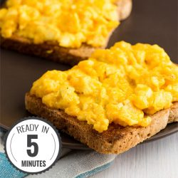 Perfect Scrambled Eggs with Cheese - Ready in 5 Mins | hurrythefoodup.com