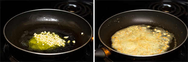 Garlic Mashed Cauliflower - Low-Carb - fry the garlic in half the butter for 3-4 minutes #butter #garlic | hurrythefoodup.com