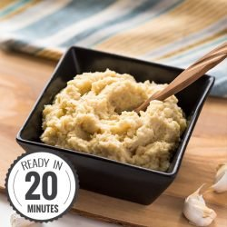 Garlic Mashed Cauliflower - Low-Carb | hurrythefoodup.com