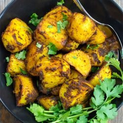 Irish Bombay Potatoes - The Best Curried Potatoes in the World - bombay potatoes ready to eat #Bombay #basil | hurrythefoodup.com