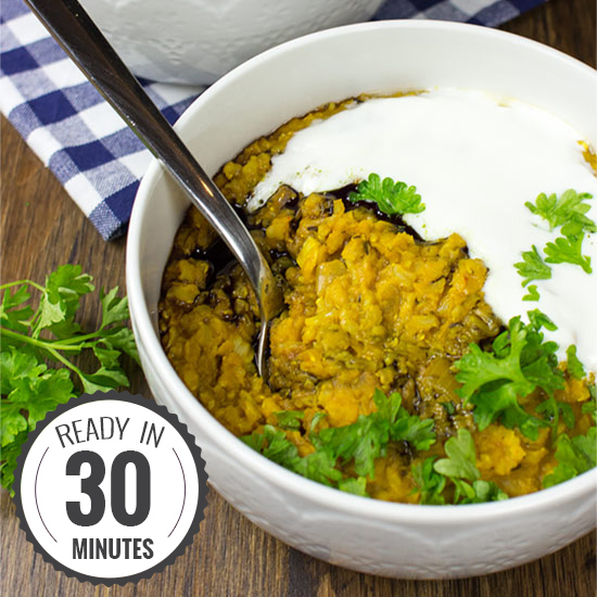 Sexy Veggie Lentil Stew - so easy it cooks itself | hurrythefoodup.com