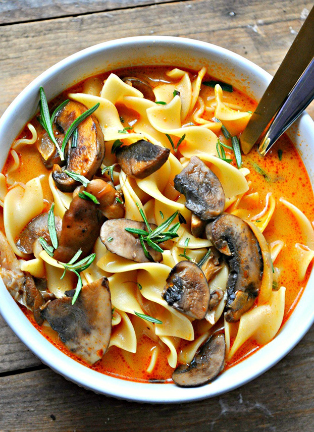 Vegan Wild Mushroom Stroganoff Soup - 18 Vegan Winter Soups