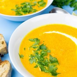Carrot and Ginger Soup - souper fast! - carrot and ginger soup ready to eat #ginger #starter | hurrythefoodup.com