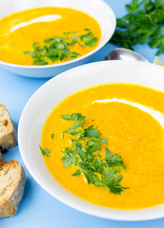 carrot and ginger soup souper fast