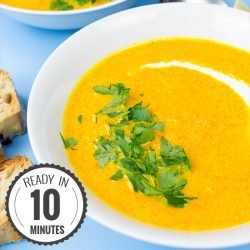 Carrot and Ginger Soup - souper fast! | hurrythefoodup.com