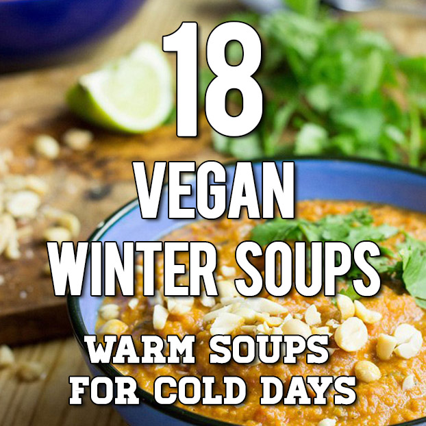 18 Vegan Winter Soups | hurrythefoodup.com