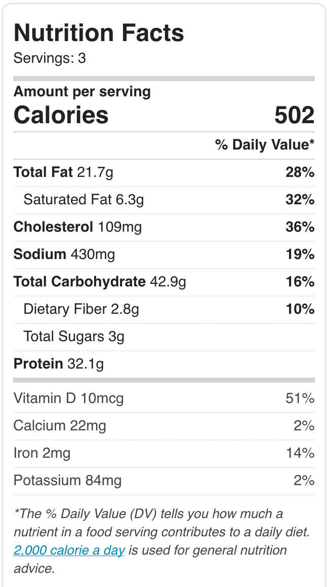 Vegetarian Toad - nutrition card hurrythefoodup.com