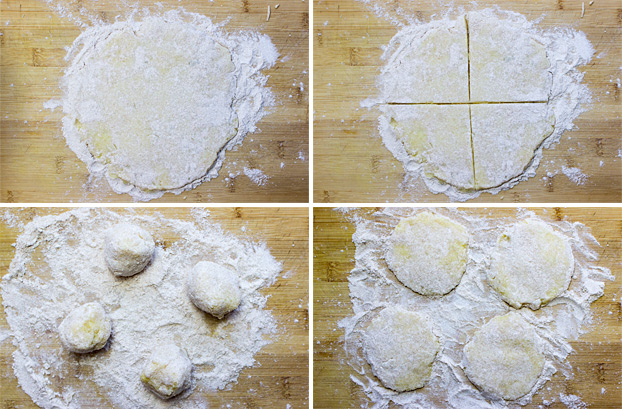 Potato Farls | An Authentic Irish Breakfast - preparing the dough #potatoes #dough | hurrythefoodup.com
