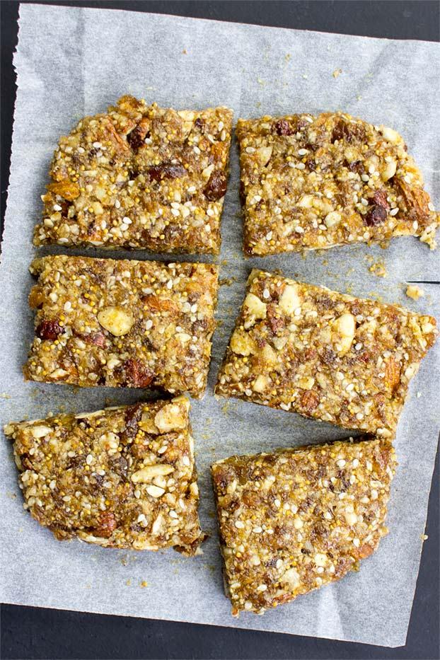 Raw Energy Bars - cut the junk - cut into bars and store wrapped in the oven paper inside sealed tupperware #snack #easy   hurrythefoodup.com
