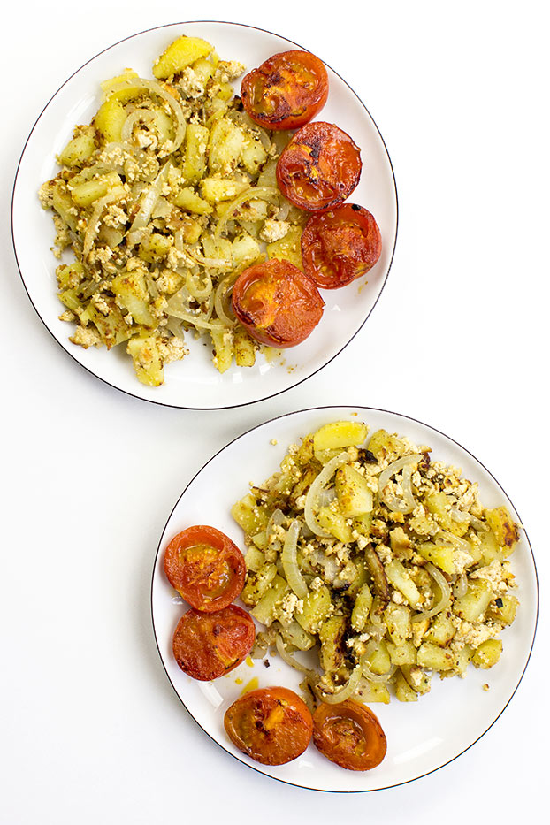Vegan Breakfast Potatoes - Break the Fast - our breakfast is ready #breakfast #potato | hurrythefoodup.com