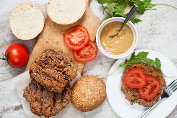 Grilled bean burger patties are ready | Hurry The Food Up