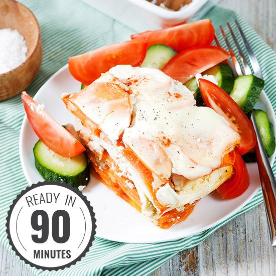 Healthy Sweet Potato Casserole - Hungarian-style | hurrythefoodup.com