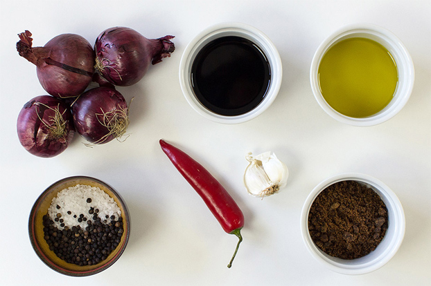 Red Onion Chutney - Sweet and Sour gives us Power - chutney ingredients #red onion #vegetarian | hurrythefoodup.com