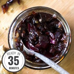 Red Onion Chutney - Sweet and Sour gives us Power | hurrythefoodup.com