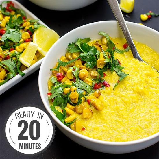 Asian-style Creamy Corn Soup - Vegan and super-quick   hurrythefoodup.com