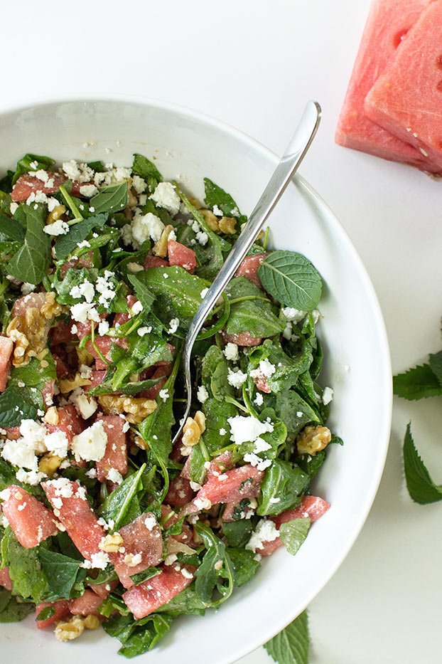 Watermelon and Feta Salad - Fresh & Fruity - Watermelon and Feta Salad is ready #easy #feta cheese | hurrythefoodup.com