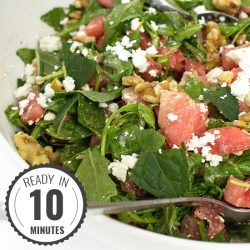 Watermelon and Feta Salad - Fresh & Fruity | hurrythefoodup.com