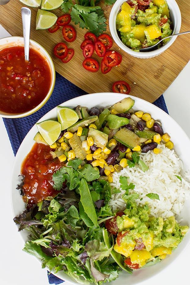 How to make a burrito bowl – the ultimate guide + 5 surefire winners - veggie burrito bowl #burrito #vegetarian   hurrythefoodup.com