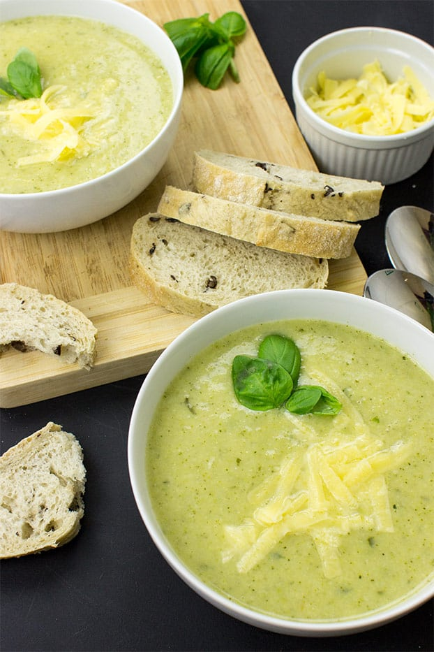 Easy Broccoli and Cauliflower Soup - The True Superfood - easy broccoli and cauliflower soup ready to serve | hurrythefoodup.com