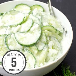 Grandma's Creamy Cucumber Salad - Taste never gets old | hurrythefoodup.com