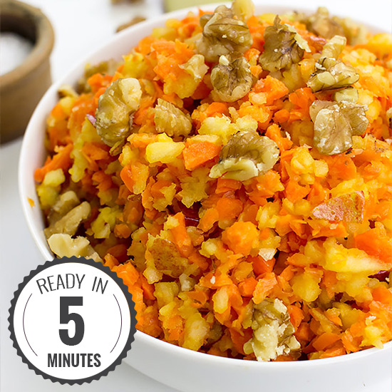 Easy Carrot and Apple Salad - Vegan, 6 ingredients | hurrythefoodup.com