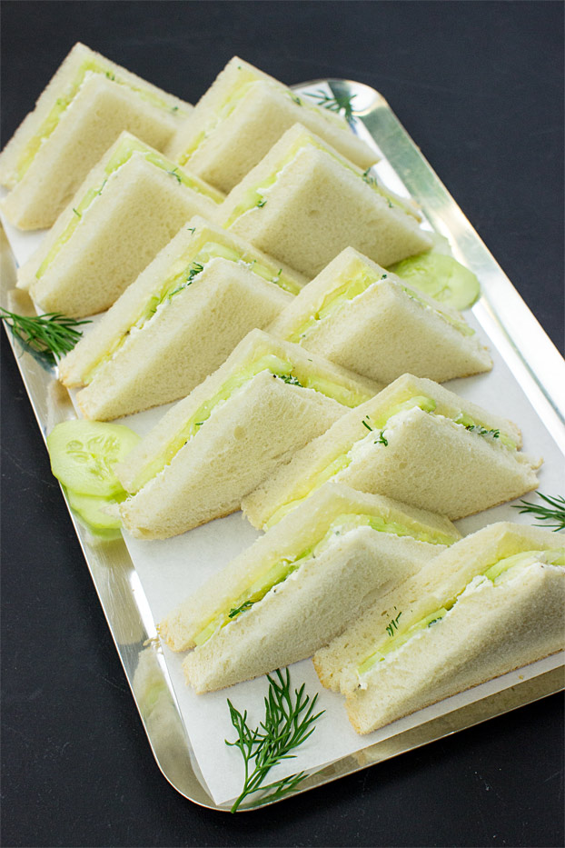 Society Cucumber Sandwiches - the Dos and Don'ts - cucumber sandwiches ready to serve #party #cream cheese | hurrythefoodup.com