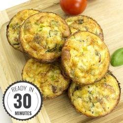 Italian-Style Breakfast Egg Muffins | hurrythefoodup.com