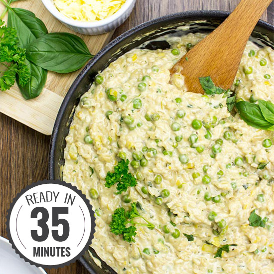 Comforting Leek Risotto with Cream Cheese | hurrythefoodup.com