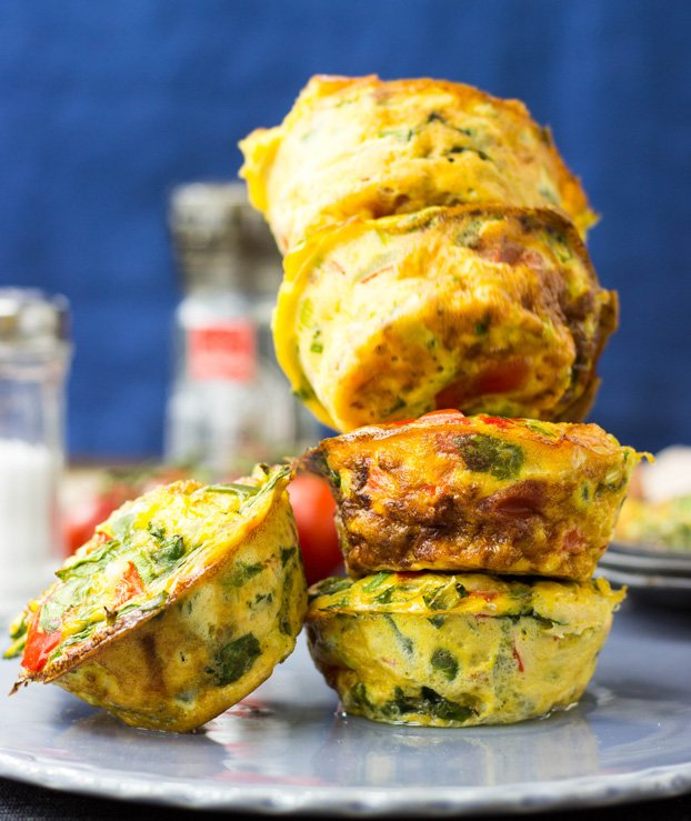 Low Carb Egg Breakfast Muffins - 21 Cheap Family Meals – Healthy Vegetarian Budget Food | hurrythefoodup.com