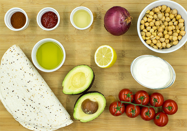 Chickpea Wraps - let's rock (and roll) - chickpea wraps ingredients #easy #vegetarian | hurrythefoodup.com