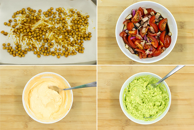Chickpea Wraps - let's rock (and roll) - chickpea wraps ingredients and sauces #spicy # dinner | hurrythefoodup.com