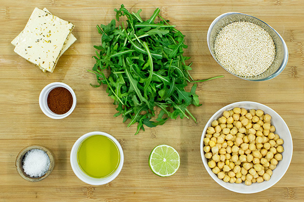Heavenly Halloumi Salad – Curb Your Hunger - Halloumi Salad ingredients #quinoa #halloumi cheese | hurrythefoodup.com