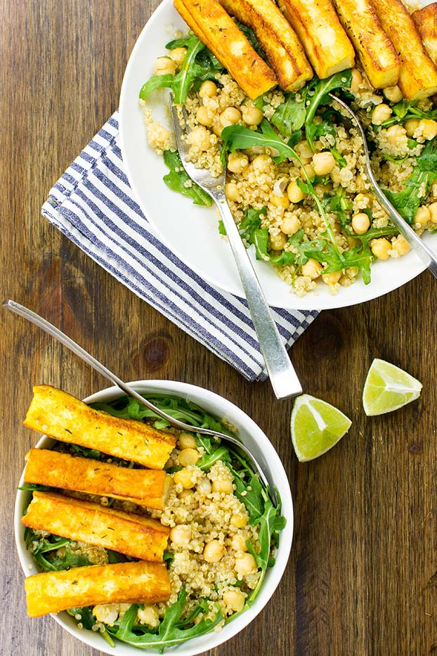Heavenly Halloumi Salad – Curb Your Hunger - the Halloumi Salad is served #salt #salad | hurrythefoodup.com