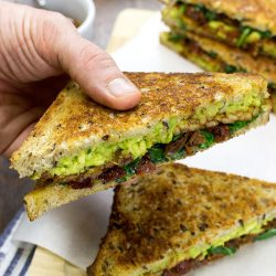 Tempeh Sandwich – Give in to Temptation - Tempeh Sandwich are served #maple syrup #salt | hurrythefoodup.com