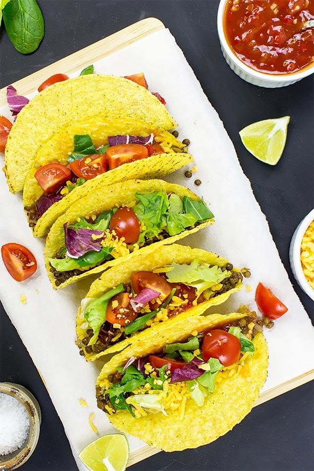 Lentil Tacos – Level Up Dinner - lentil tacos ready to serve #tacos #seasoning | hurrythefoodup.com