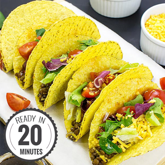 Lentil Tacos – Level Up Dinner | hurrythefoodup.com