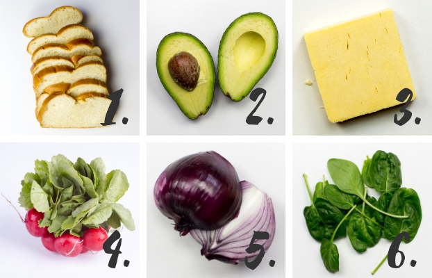 Sandwich ingredients #spinach #quick #easy | hurrythefoodup.com