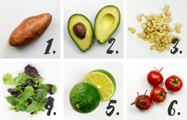 Salad ingredients #healthy #vegan #vegetarian | hurrythefoodup.com