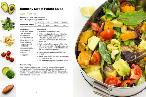 Salad recipe card #sweet #potato #salad #nuts #healthy #vegan #vegetarian | hurrythefoodup.com