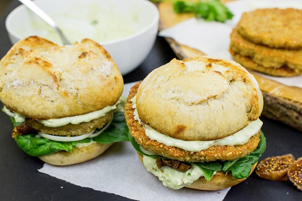 Quinoa Burgers – The future of all burgers - quinoa burgers are ready #burger buns #vegetarian | hurrythefoodup.com