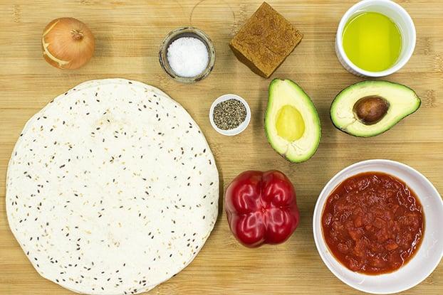 Burrito ingredients #smoked tofu #vegan | hurrythefoodup.com