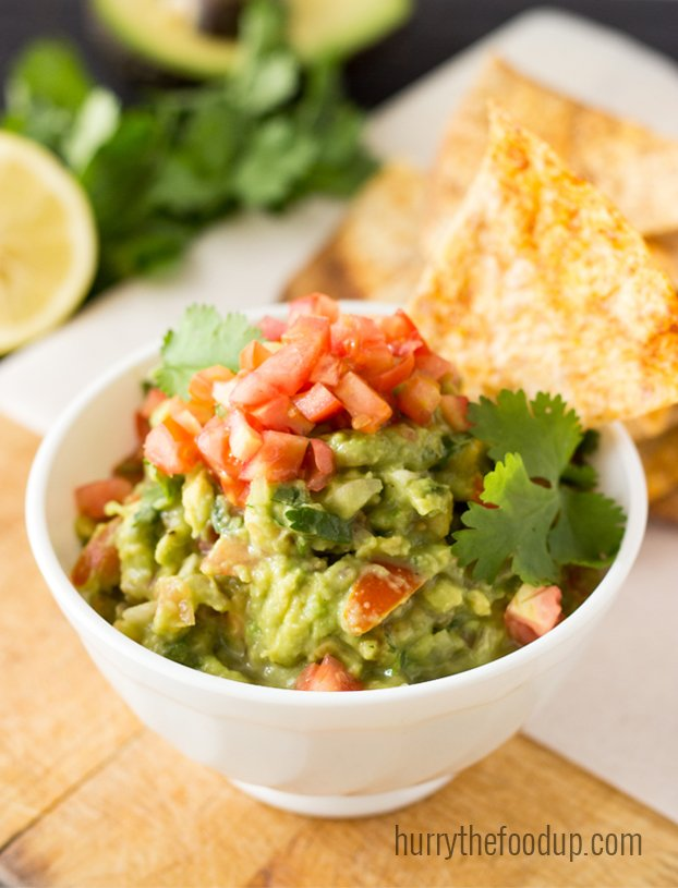 Easter Dinner, Lunch and Breakfast Ideas – Tasty and Stress-free - Crispy Tortillas with Tangy Guacamole recipe   hurrythefoodup.com