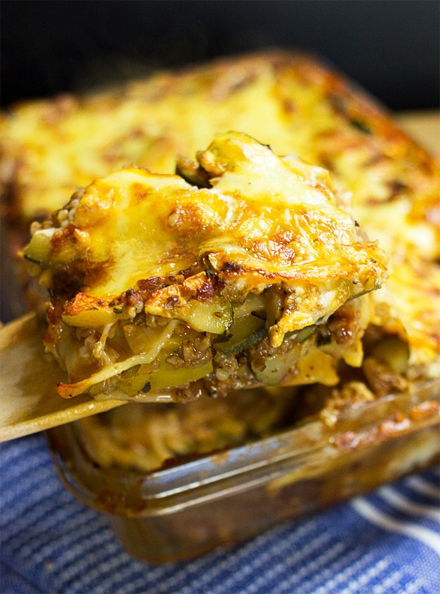 Easter Dinner, Lunch and Breakfast Ideas – Tasty and Stress-free - Vegetarian Zucchini Lasagna recipe | hurrythefoodup.com