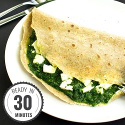 Flawless Feta and Spinach Pancakes - Nutritious and Delicious | hurrythefoodup.com